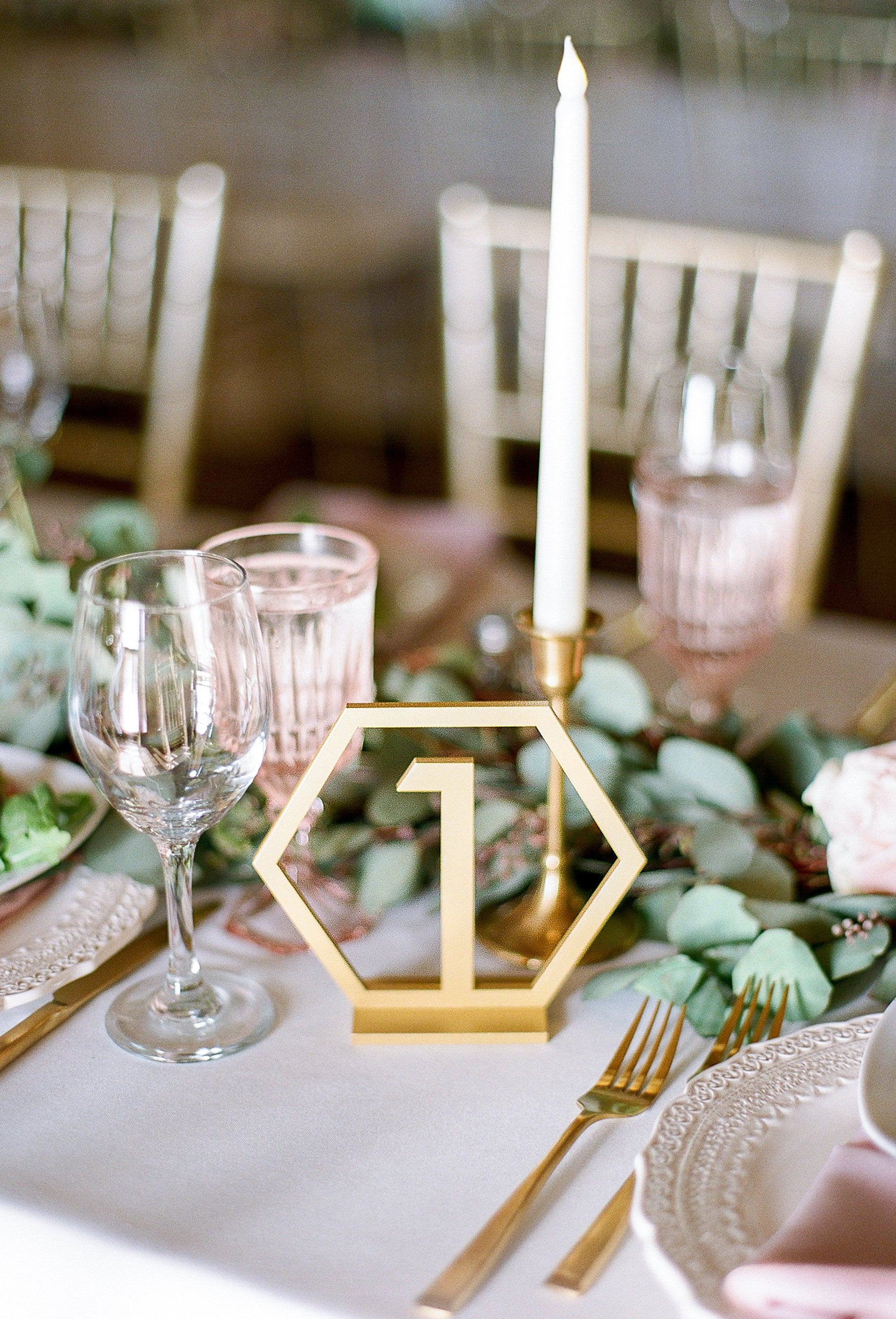 Geometric Table Numbers for Wedding, Wooden Laser Cutout Hexagon Table Numbers Wedding Decor, Boho Centerpiece Table Decor.jpg