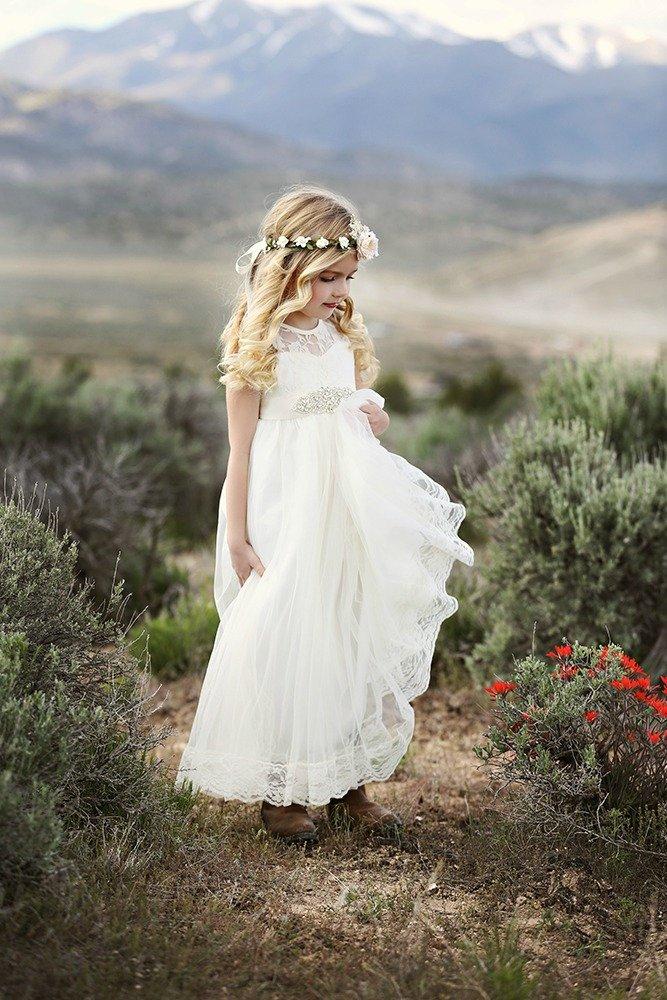 Ivory flower girl dress, Tulle