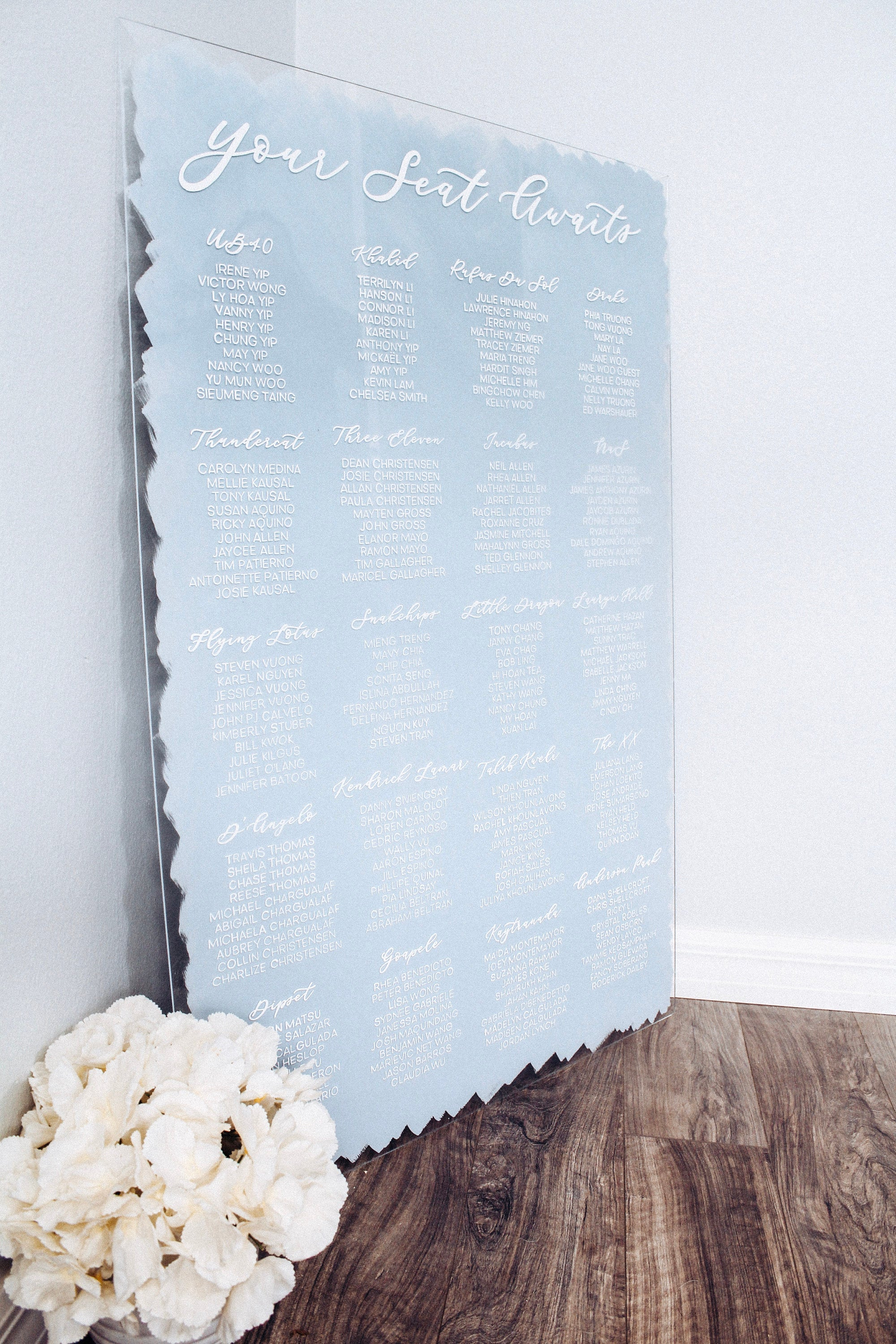 Wedding Seating Chart Painted Back Acrylic Sign.jpg