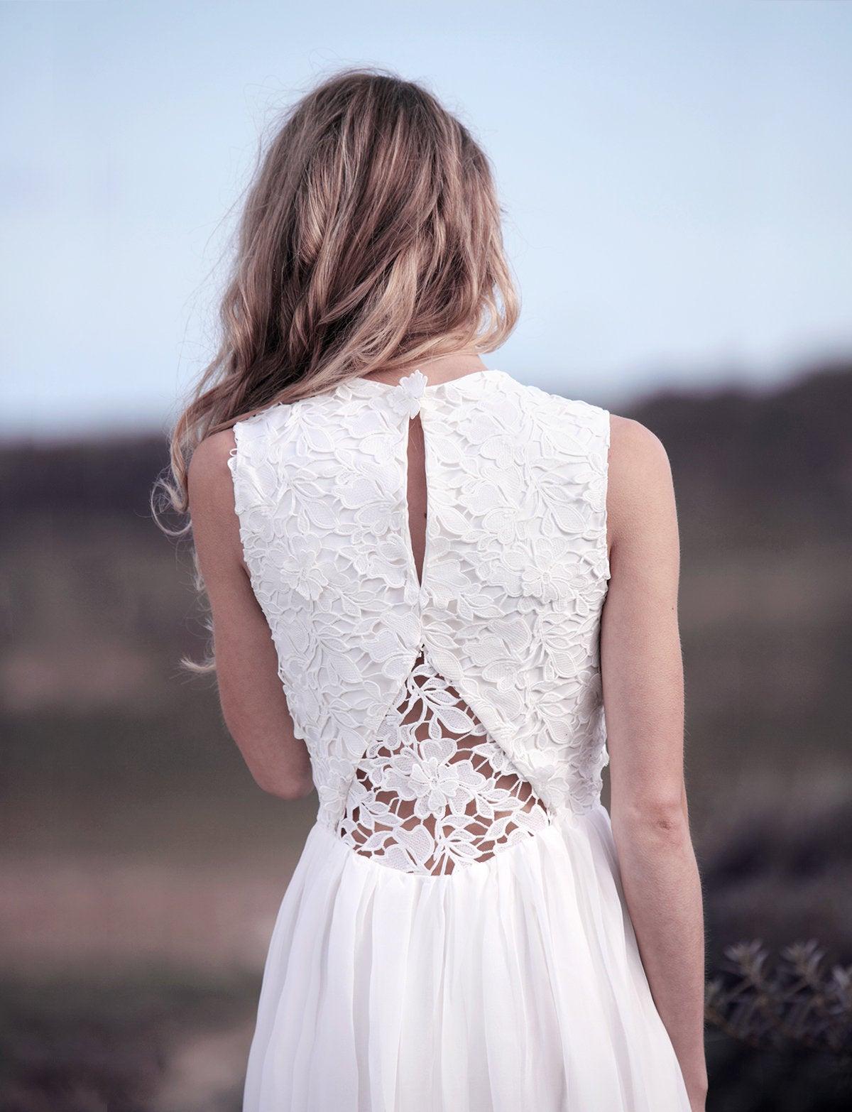 Lace wedding dress, rustic wedding, wedding dress short, vintage wedding, bridal lace dress, garden wedding dress.jpg