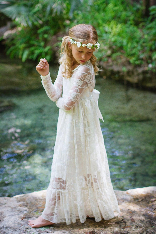 Girls lvory Long Lace Dress - Long Sleeve.jpg