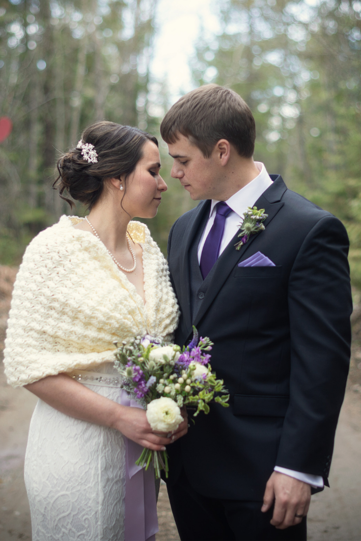 Romantic Elopement at Tin Poppy Retreat in British Columbia bridal crochet shawl.png