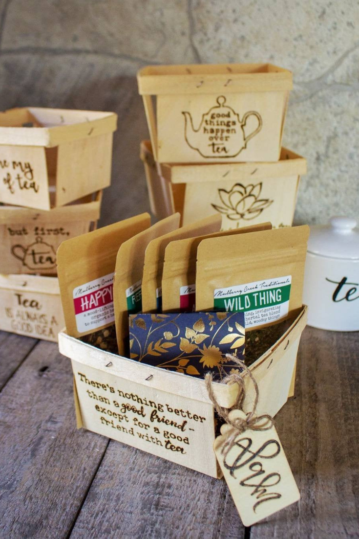 CUSTOM Wood Berry Basket GIFT SET with Organic Loose-Leaf Medicinal Herbal Teas bridesmaids gift.png