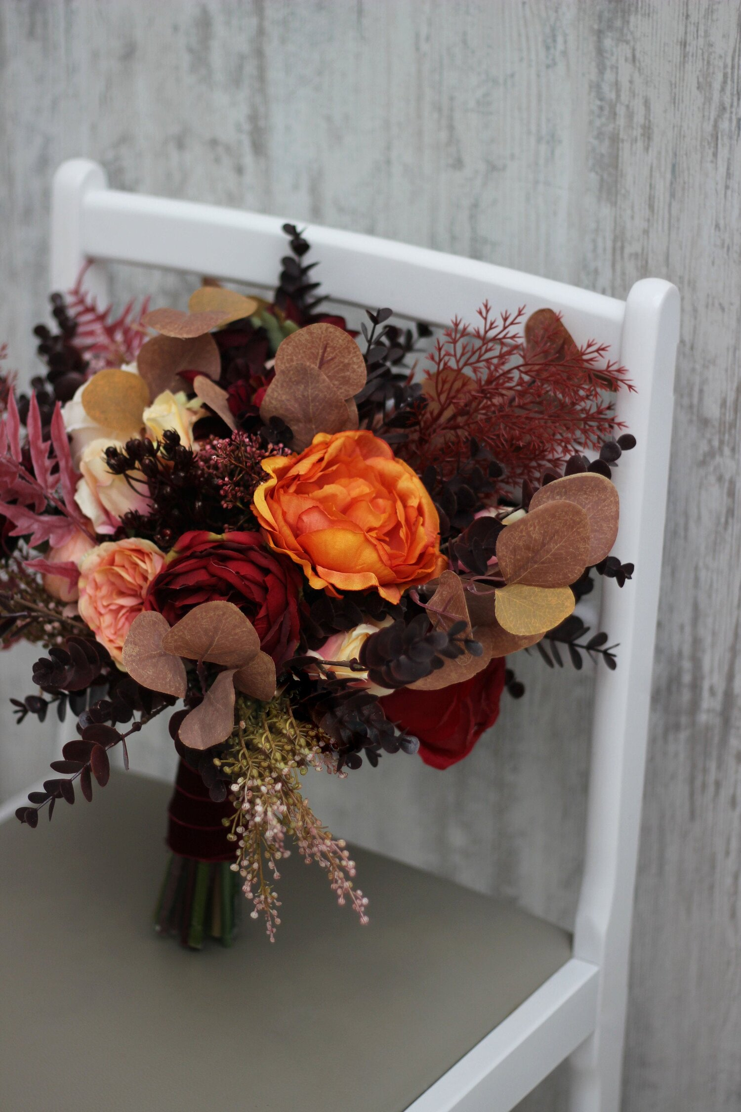 Rustic Wedding Outdoor Wedding Fall Wedding Silk Flower Bouquet IN-STOCK Fall Bride Bouquet Barn Wedding Bride Bouquet