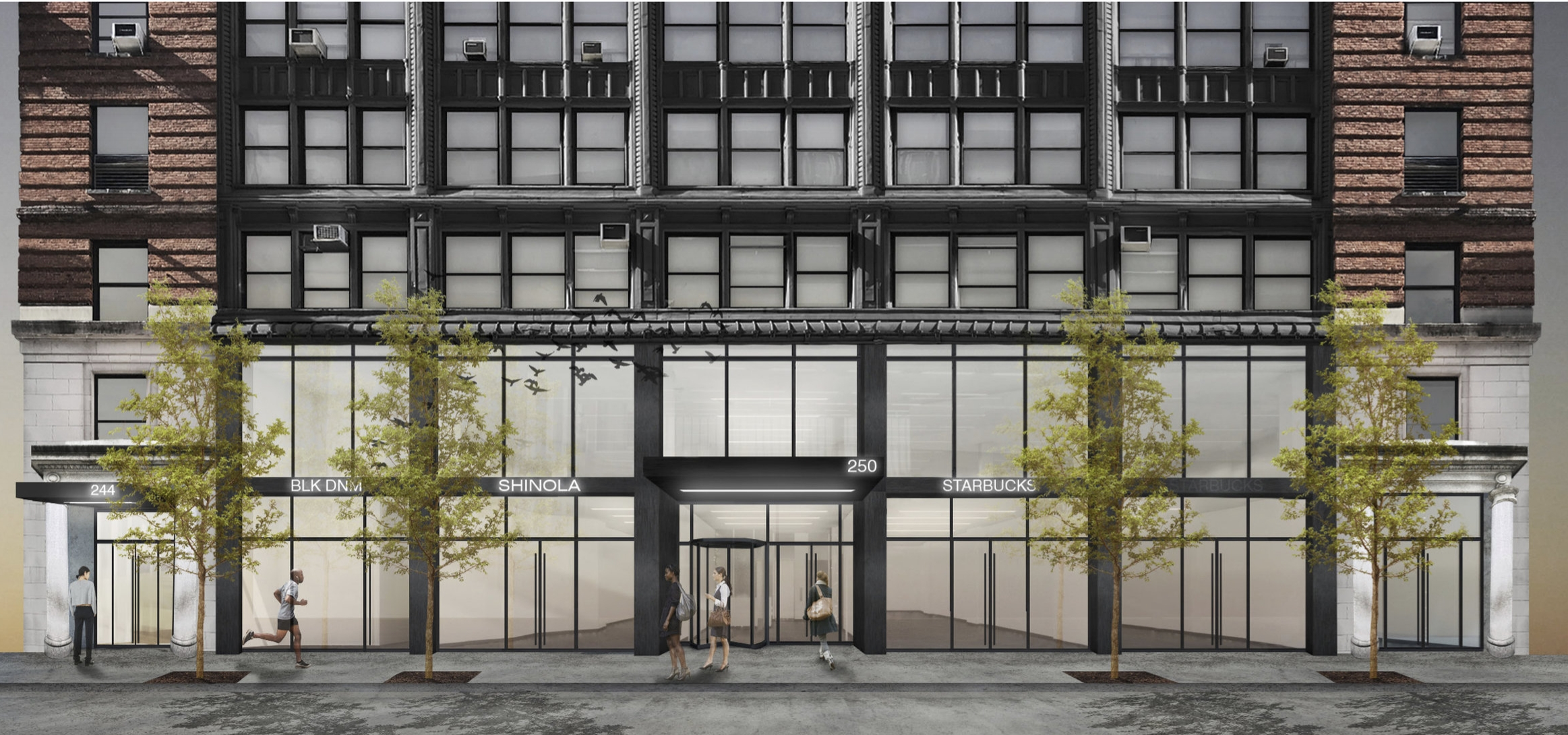 250 W 54th Street - Office - From 2,000 up to 35,000SF Available.(2,800Sf; 3,100SF ; 3700SF ; 8,500SF ; 12,965SF)