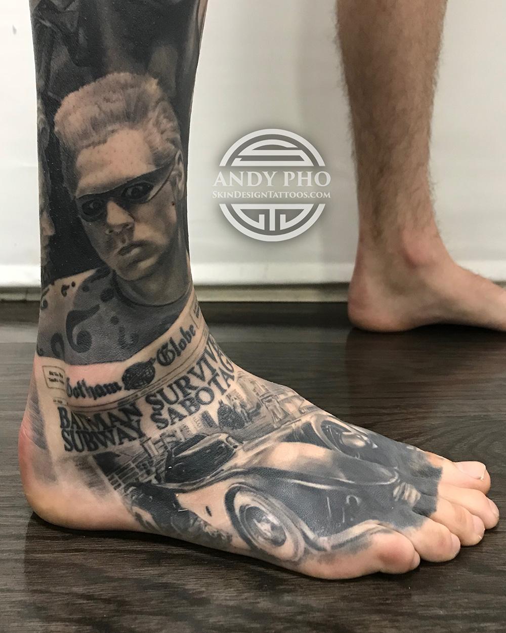 Andy Pho Riddler Batmobile tattoo.JPG