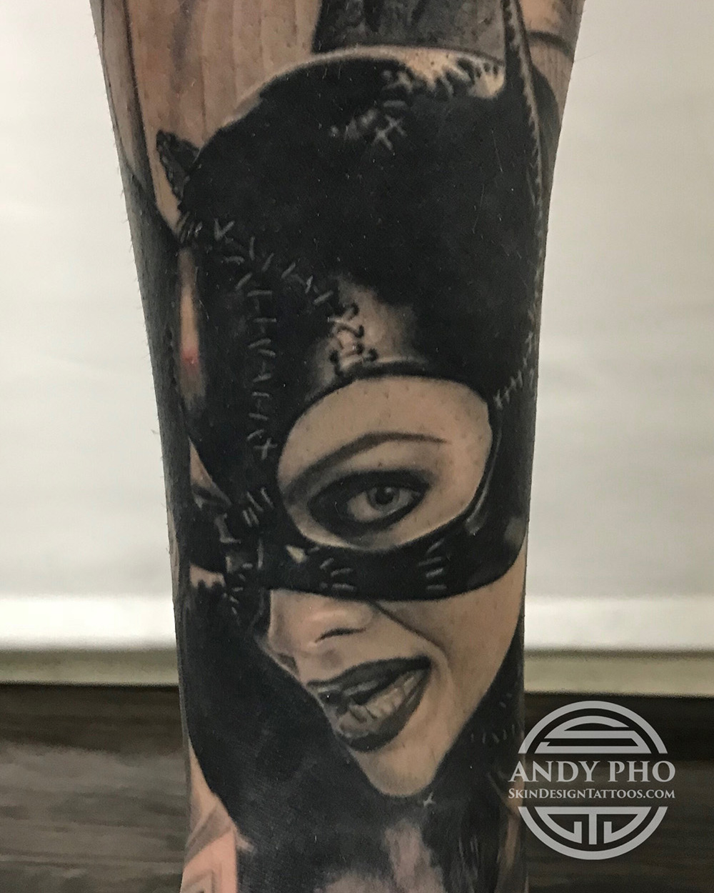 Andy Pho Catwoman tattoo.JPG