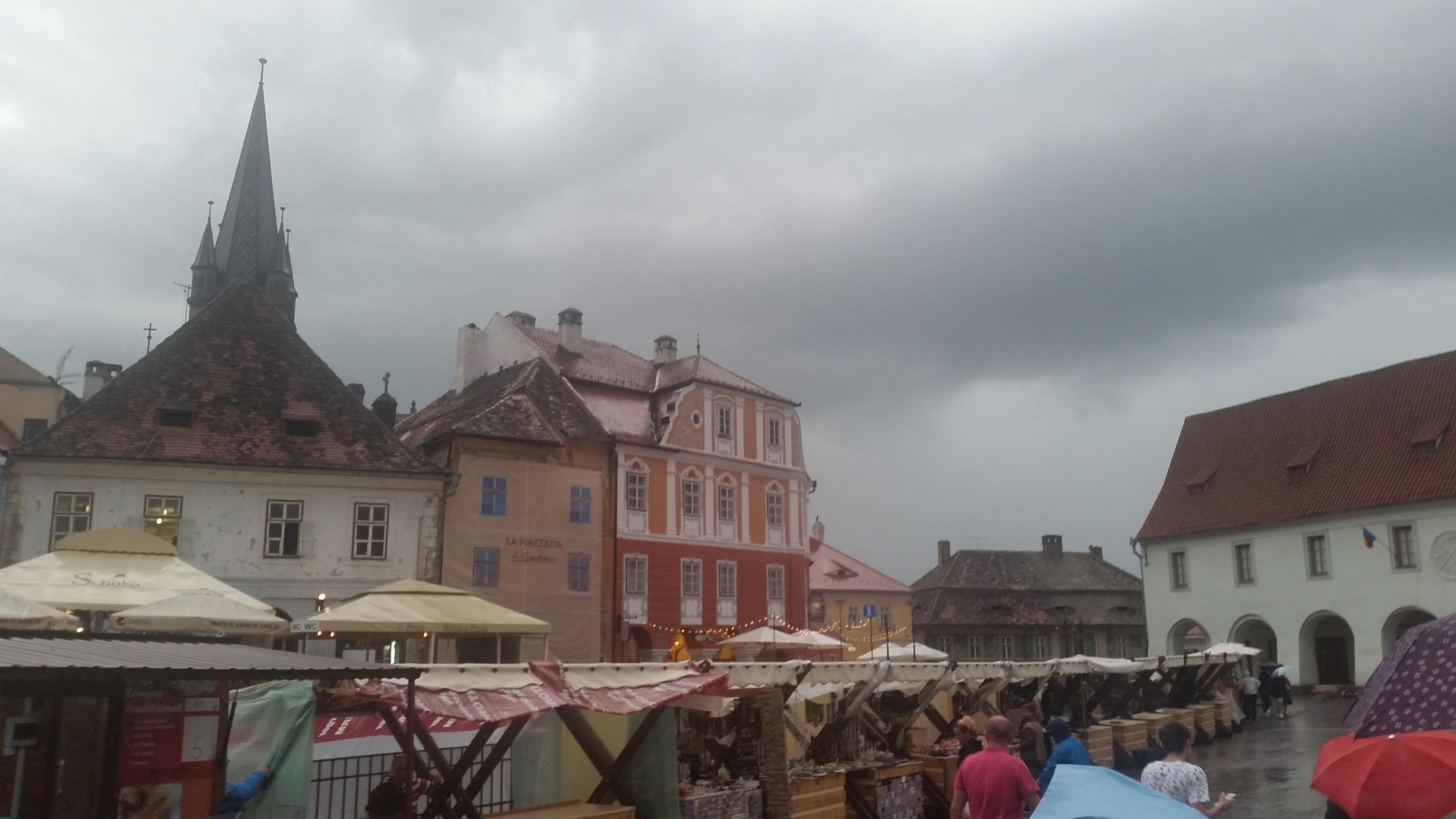 Sibiu im Regen