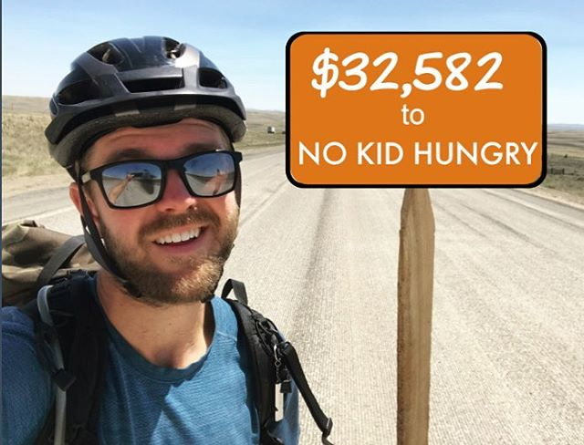 Hey friends, hope all of you voted your little hearts out today. I sure did. ⁣⁣ ⁣⁣ So the trip's all over and thanks to so many of you, we raised a killer amount of money for @nokidhungry - $17,582 to be exact. And the final donation has been made. But wait! There's a little extra sauce on this pizza…⁣⁣. ⁣⁣ Thanks to a @nokidhungry partnership, @dominosugar & @chsugar matched $15,000 to the contribution, bringing the total money contributed to $32,582. To @nokidhungry ,⁣ that means over 325,800+ meals that they'll be able to supply to hungry kids - keeping them well-nourished, in-school, and ready to learn! ⁣⁣ ⁣⁣ Or for all you math nerds, thats roughly 91 meals for every single mile I bladed. Talk about some dabblin'! ⁣⁣ ⁣⁣ That number is absolutely MASSIVE, and it's all thanks to so many of you. Together, we've hopefully made a significant difference in a lot of kid's lives and their future opportunity. ⁣⁣ ⁣⁣ So thank you, again, for everything! Have a great trip, see you next Fall. ⁣⁣ ⁣⁣ Love,⁣⁣ Mike (off-blades)⁣⁣ ⁣⁣ P.s. No badgers were hurt in the making of this photo ⁣⁣ ⁣ #nokidhungry #hungercantwait #gofundme #wyomingbadgerstick