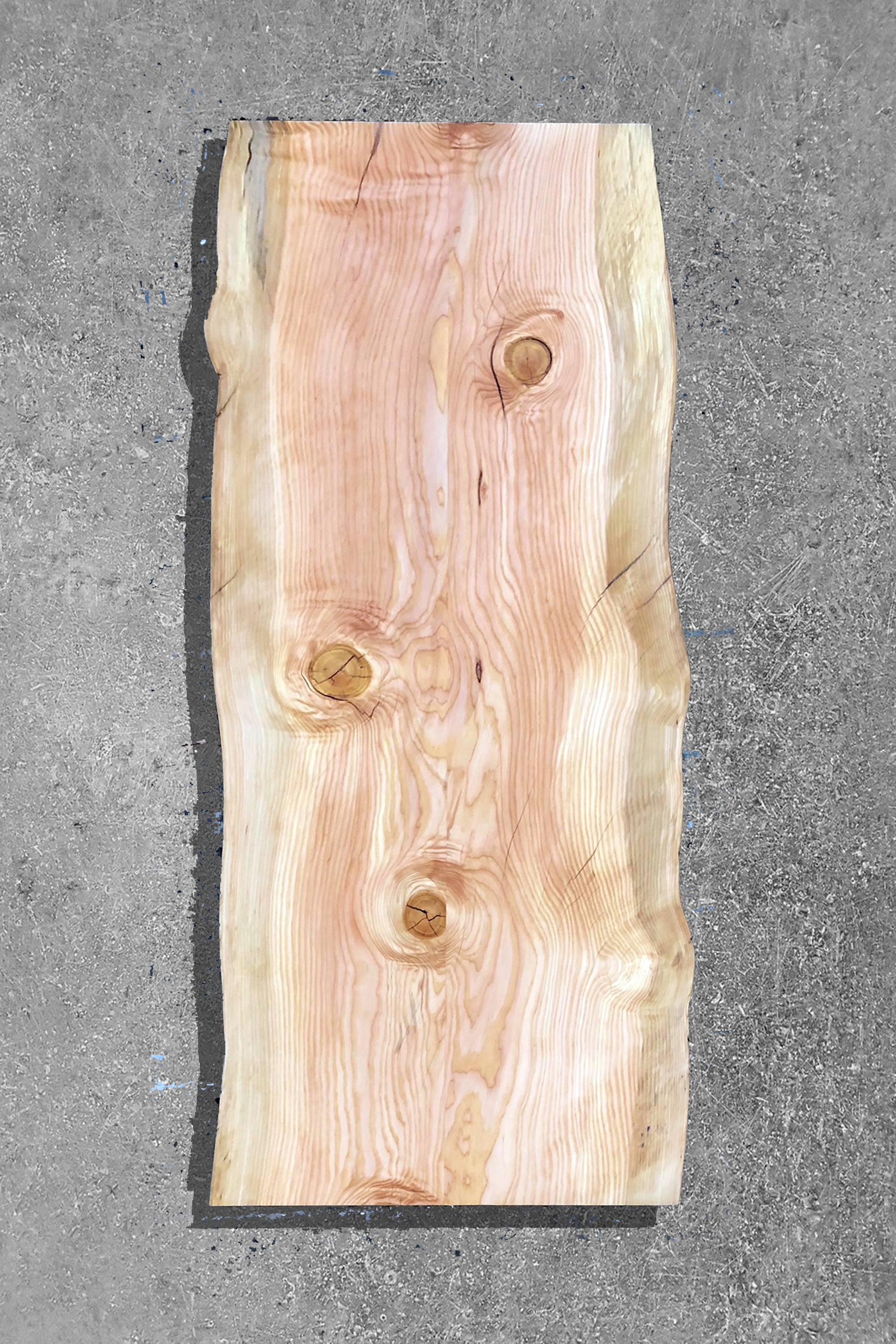 "CAF-F #4 - DOUGLAS FIR31"" W X 75"" L X 2"" TSINGLE SLAB-REJOINEDLIVE EDGECLEAR EPOXYCLEAR OIDE'S OIL FINISH$2,000.00 CAD"