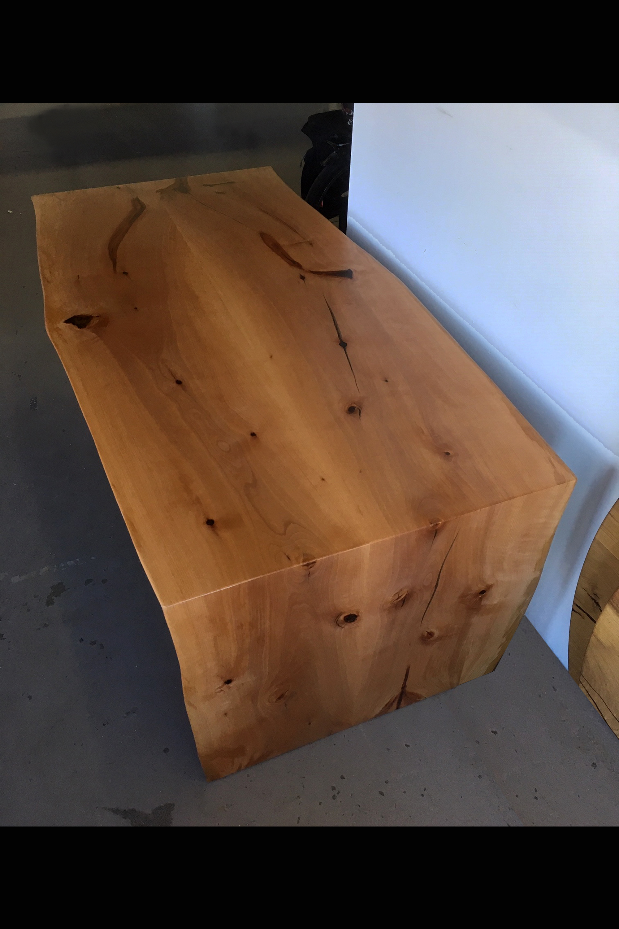 "FA-20 - ARBUTUS (MADRONE)34-38-34"" W X 72"" L X 28-1/2"" HBOOK-MATCH PAIRLIVE EDGESINGLE WATERFALL LEGS CLEAR OIL FINISHOSMO POLY-X MATTE$7,610.00 CAD"
