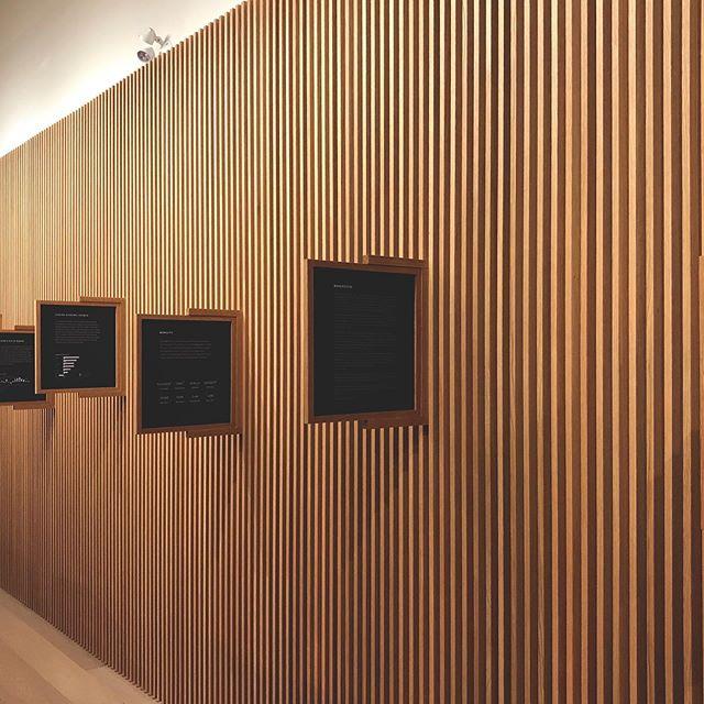 Baffled Room.  #oakridgevancouver #livingcity #westbank #design #unwrittenexhibition #custom #interiordesign #architecture #localymade #vancouverbc #builtlocal #woodworking #woodgrain #wooddesign