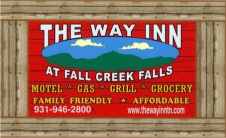 The Way Inn     Motel, Gas, Grill & Grocery    Your last stop for grocery before entering Fall Creek Falls  Address: 1989 Archie Rhinehart Parkway, Spencer Tn 38585  Phone: 931-946-2800  Website:  thewayinntn.com