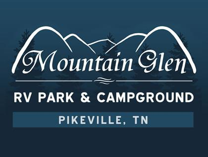 Mountain Glen RV Park & Campground   RV Park & Campground  Address: 6182 Brockdell Road Pikeville, TN 37367  Website:  www.mountainglenonline.com   Phone: (877) 716-4493