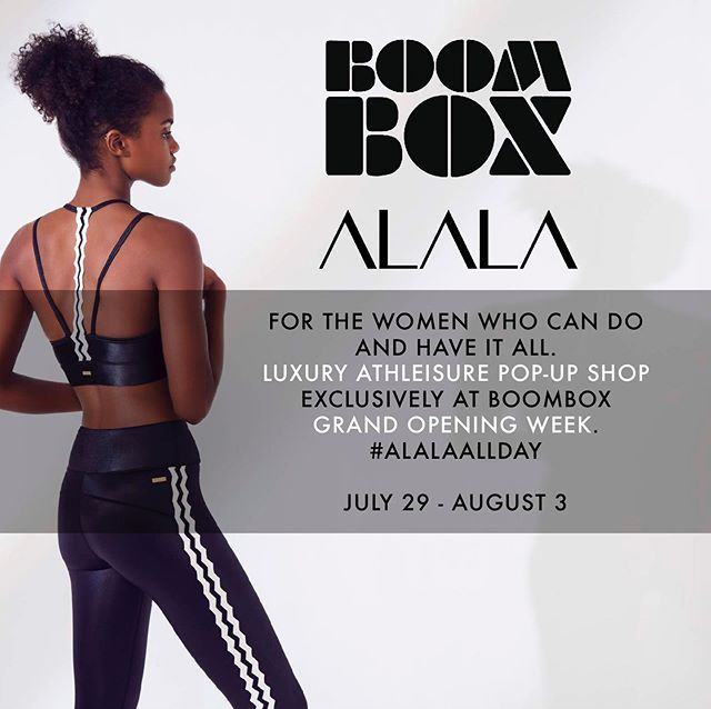 For All of the BadAss Women with Fit Style & Grace allow us to introduce @Alala our #FitFashion Partner for Grand Opening Week!👇🏽 • • Shop #ALALA in studio 7/29-8/3.