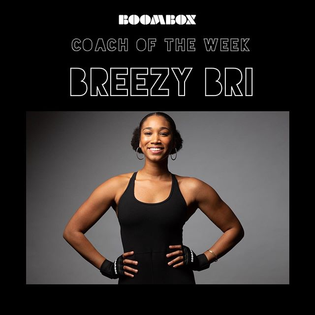 """COACH OF THE WEEK:💪🏾 """"BREEZY BRI""""👊🏾👊🏾 • She's one Badass Dancer turn't Boxer!💃🏾🥊 • Catch her on stage this week👇🏾 TUES: 6:25PM🥊 WED: 6AM🥊 THURS: 5:20PM & 6:25PM🥊 #BOXINGREMIXED #GIRLSWHOBOX"""