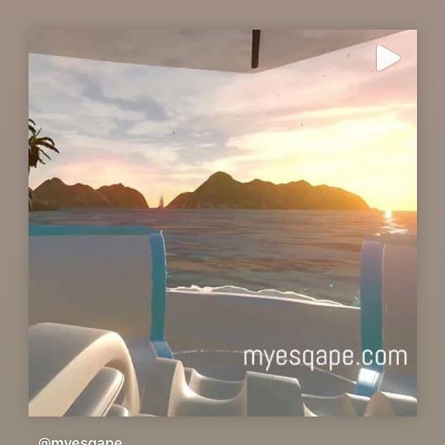 Check out one of my #favorite #vr environments #sunset #beach @myesqape 🏖🌅 #virtualreality #virtualrealityworld #massagetherapy #massage #daycation #mentalescape #spaday💆 #losangeles #la #escapism #esqapes #immersiveart #immersiverelaxation