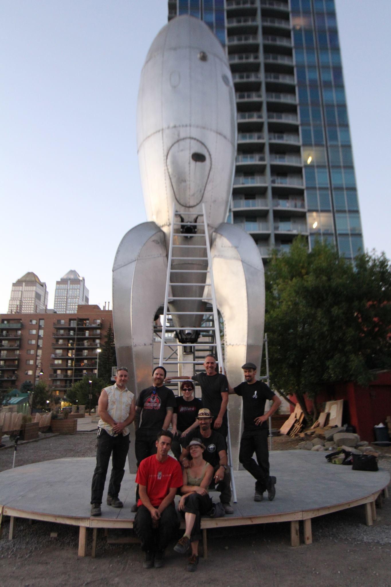 RGR installed in Calgary, Alberta, CA for the Beakerhead Festival, 2013.