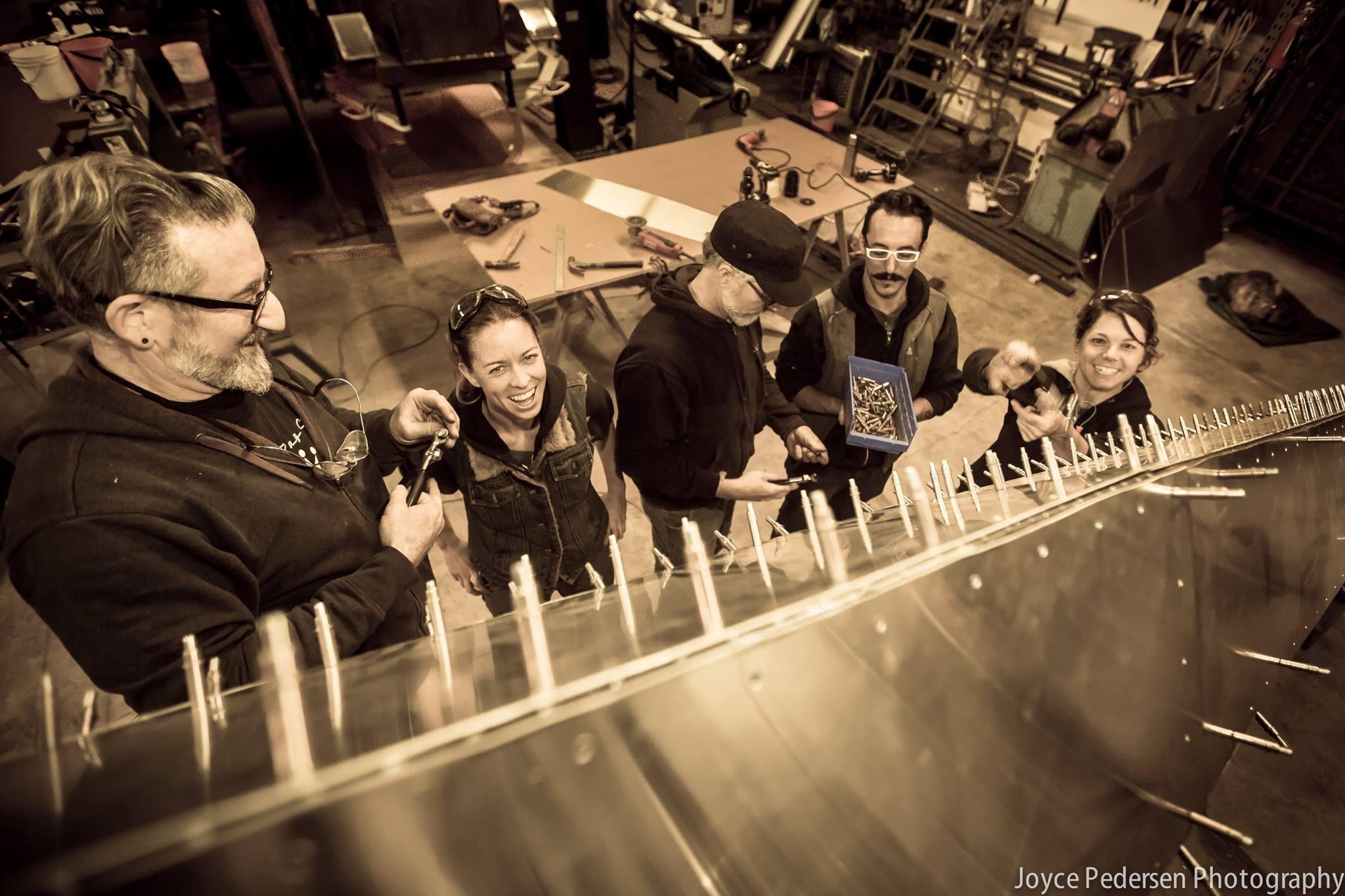 Refurbishing the RGR for Denver. Photo by Joyce Pedersen.