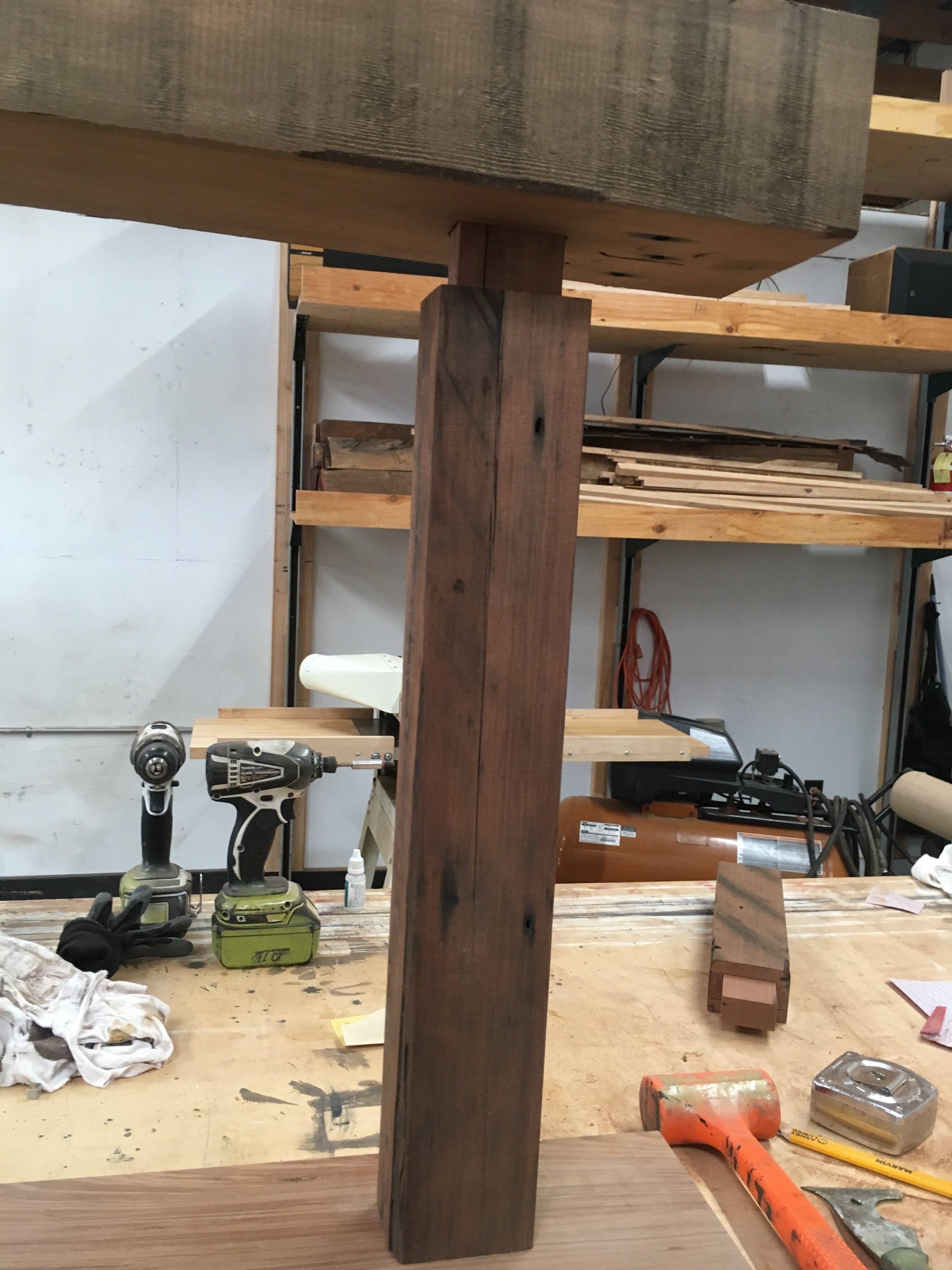 Leg and rail mortise