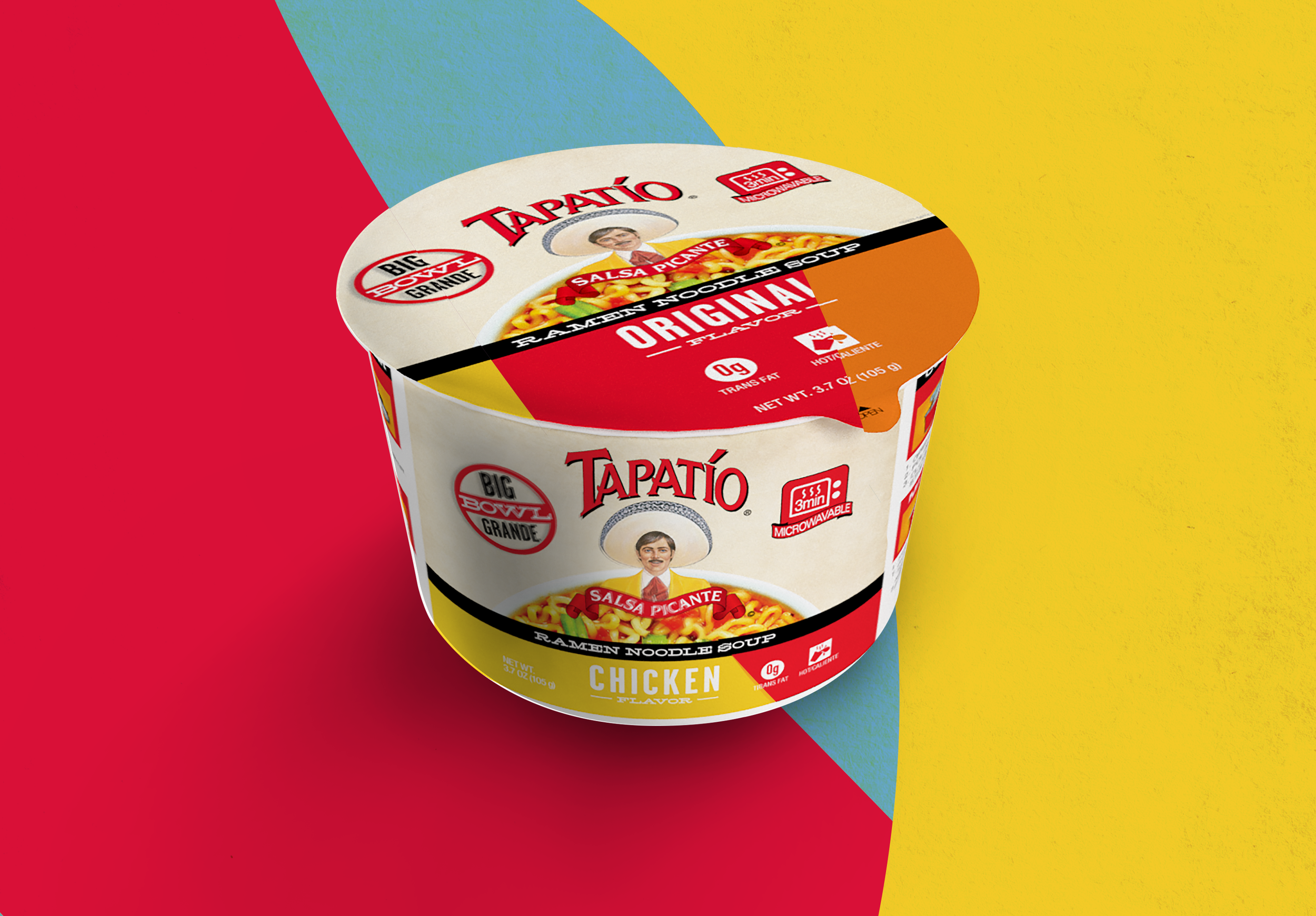 IT'S HERE. - Now available for a tasty, spicy, savory experience in Original, Chicken, Beef and Shrimp. Buy now online and at selected retail stores, coming soon to more stores nationwide. Try one, try all three and tell your friends!