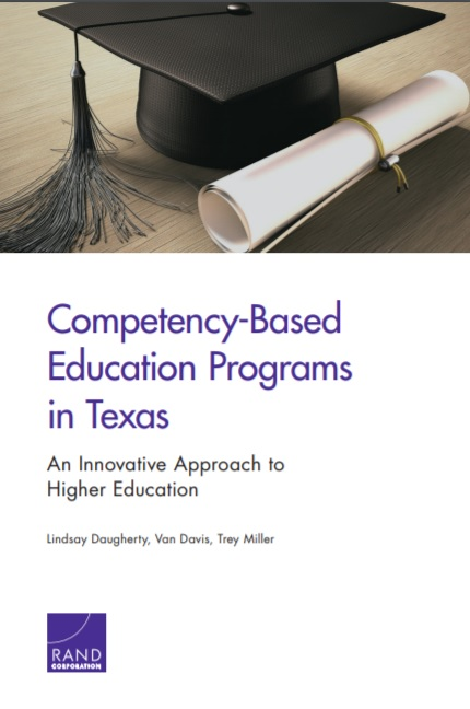 Competency-Based Education Programs in Texas - An Innovative Approach to Higher Education