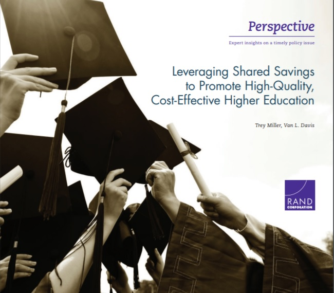 Leveraging Shared Savings to Promote High-Quality, Cost-Effective Higher Education -