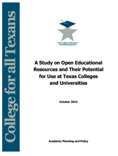 A Study on OER and Their Potential for Use at Texas Colleges and Universities -