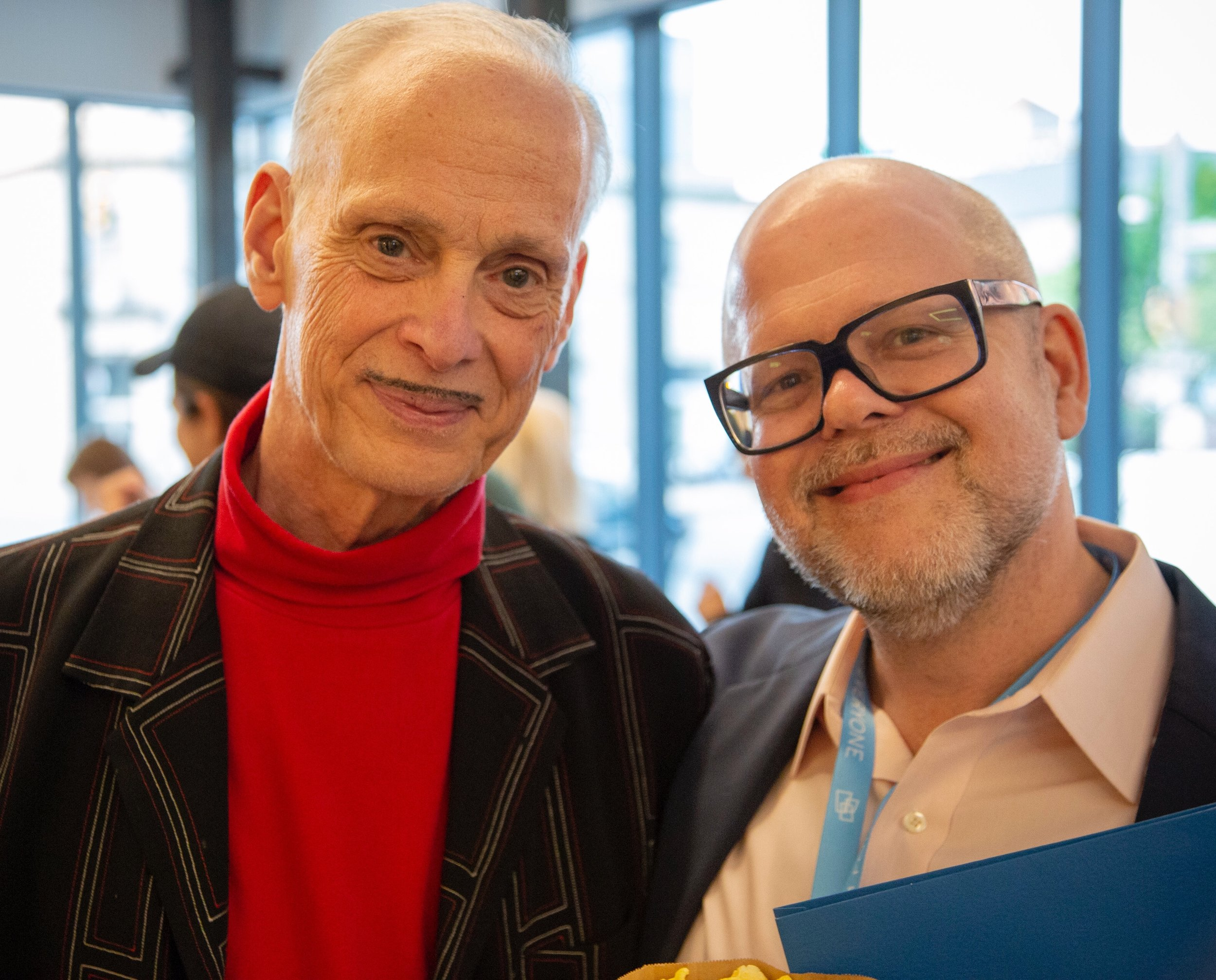 With legendary director John Waters before  Accident, MD 's world premiere at the  2018 Maryland Film Festival's Opening Night Shorts Gala