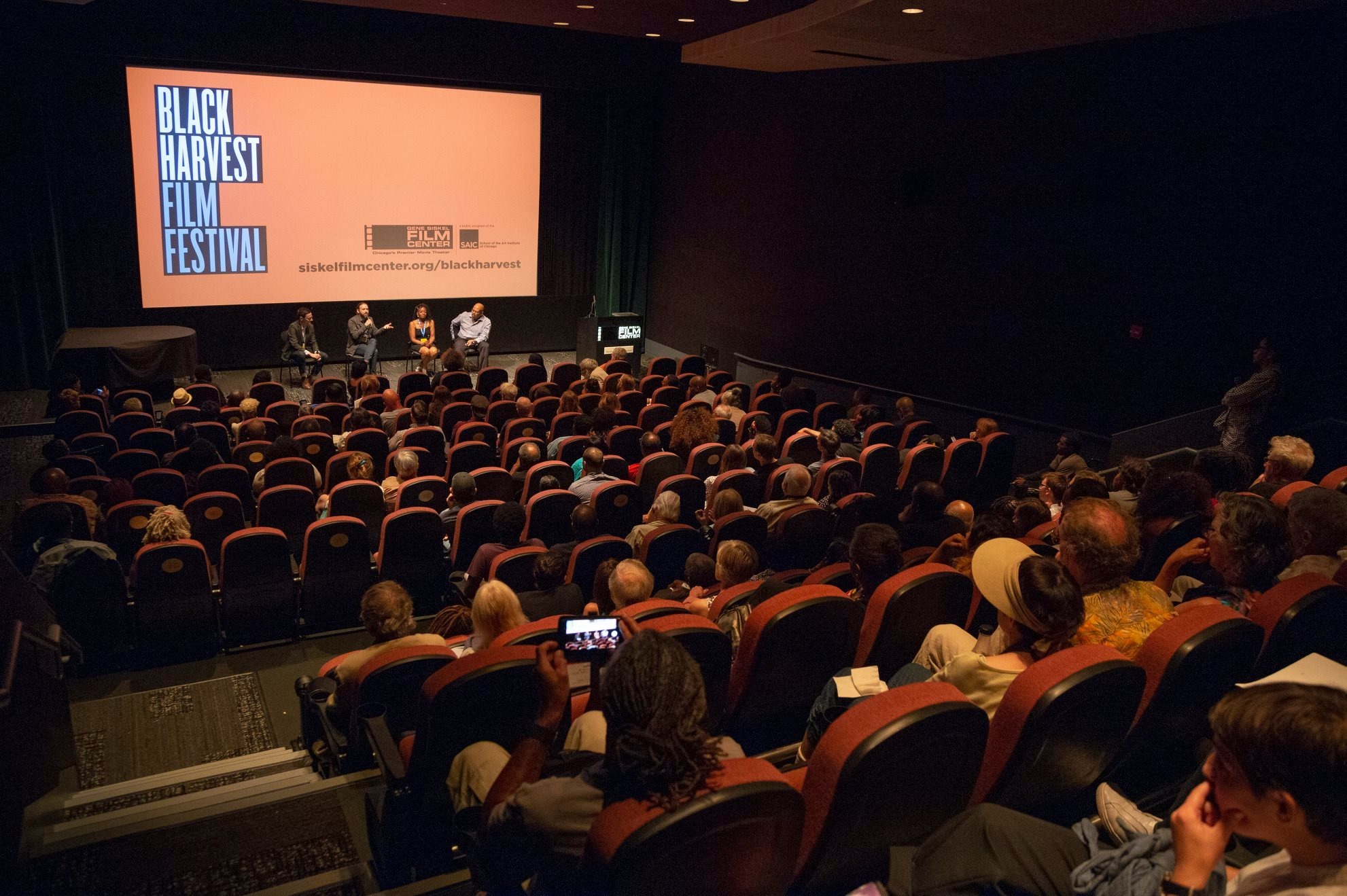 Q&A following a sold-out  2018 Black Harvest Film Festival  screening at the  Gene Siskel Film Center of the School of the Art Institute of Chicago