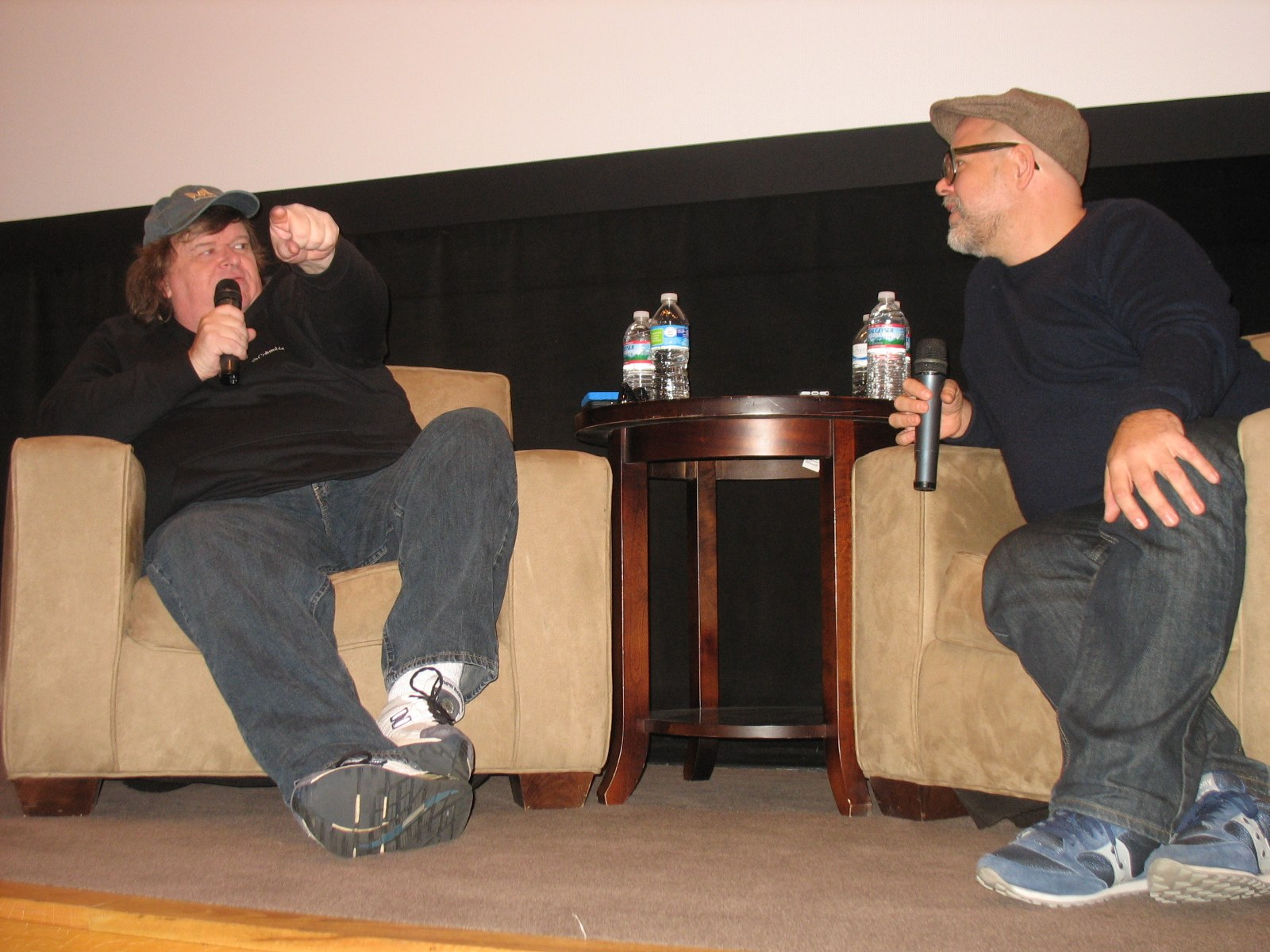 Interviewing Michael Moore at  Columbia College Chicago