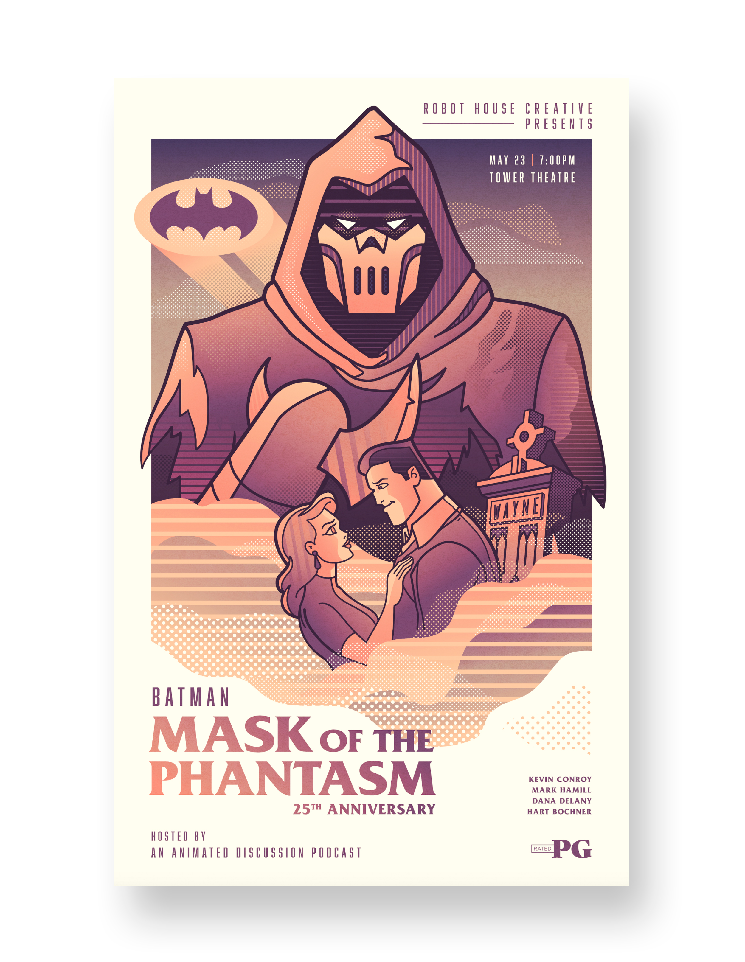 BATMAN MASK OF THE PHANTASM TOWER THEATRE VARIANT