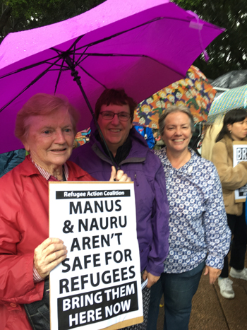 PHOTO:  Margaret Hinchey rsm, Anne Lane pbvm, Lorraine McCleary fdnsc