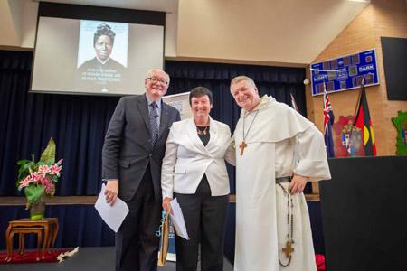 John McCarthy QC, Jennifer Westacott, and Archbishop Anthony Fisher OP