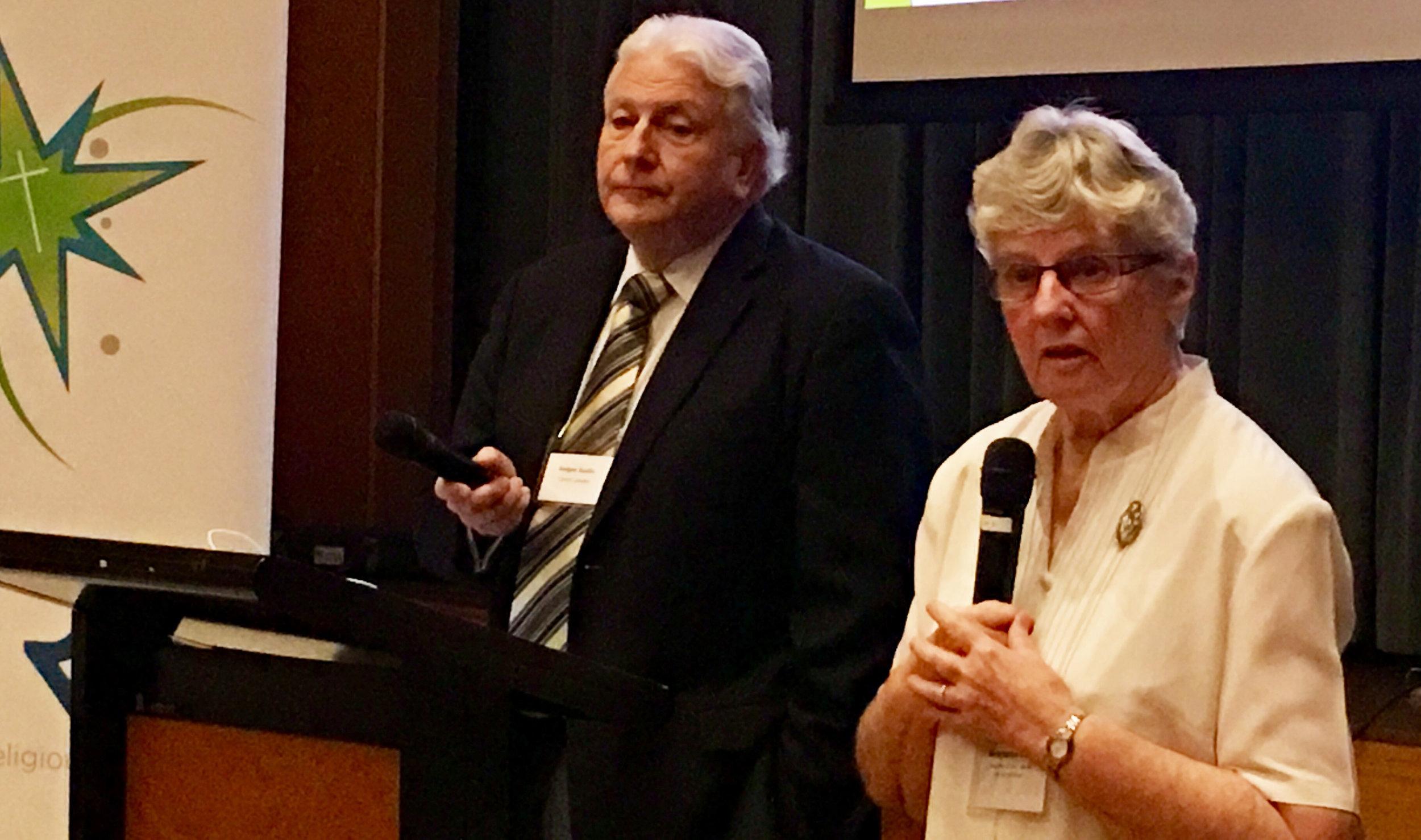 Dr Rodger Austin and Sr Moya Hanlon presenting at the seminar.