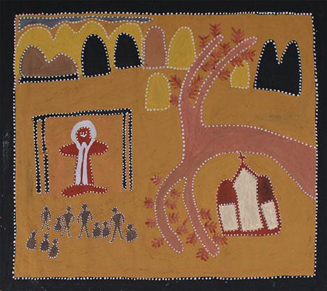 Artwork by Queenie McKenzie, theme image for Aboriginal and Torres Strait Islander Sunday 2019.