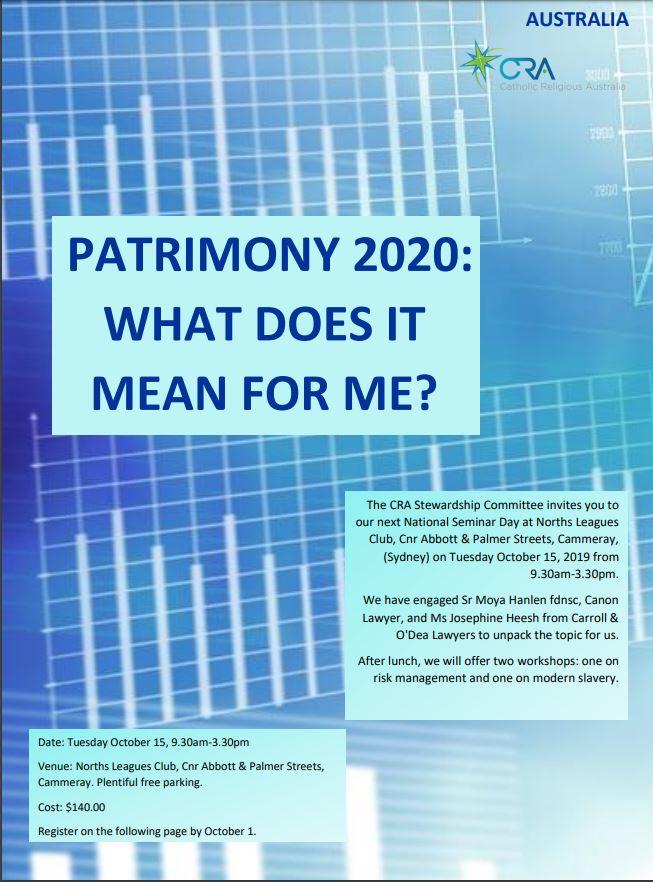 Stewardship Seminar - Oct 2019 - image of flyer.JPG