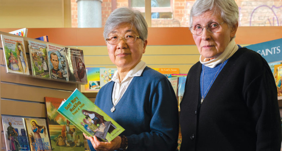 Sr Grace   Matsumoto   and Sr Marisa Valzasina in the Daughters of St Paul's Adelaide bookshop which will close at the end of the month. (PHOTO: The Southern Cross)