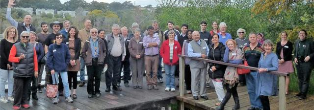 The FEN Randwick wetland group (PHOTO: Faith Ecology Network)