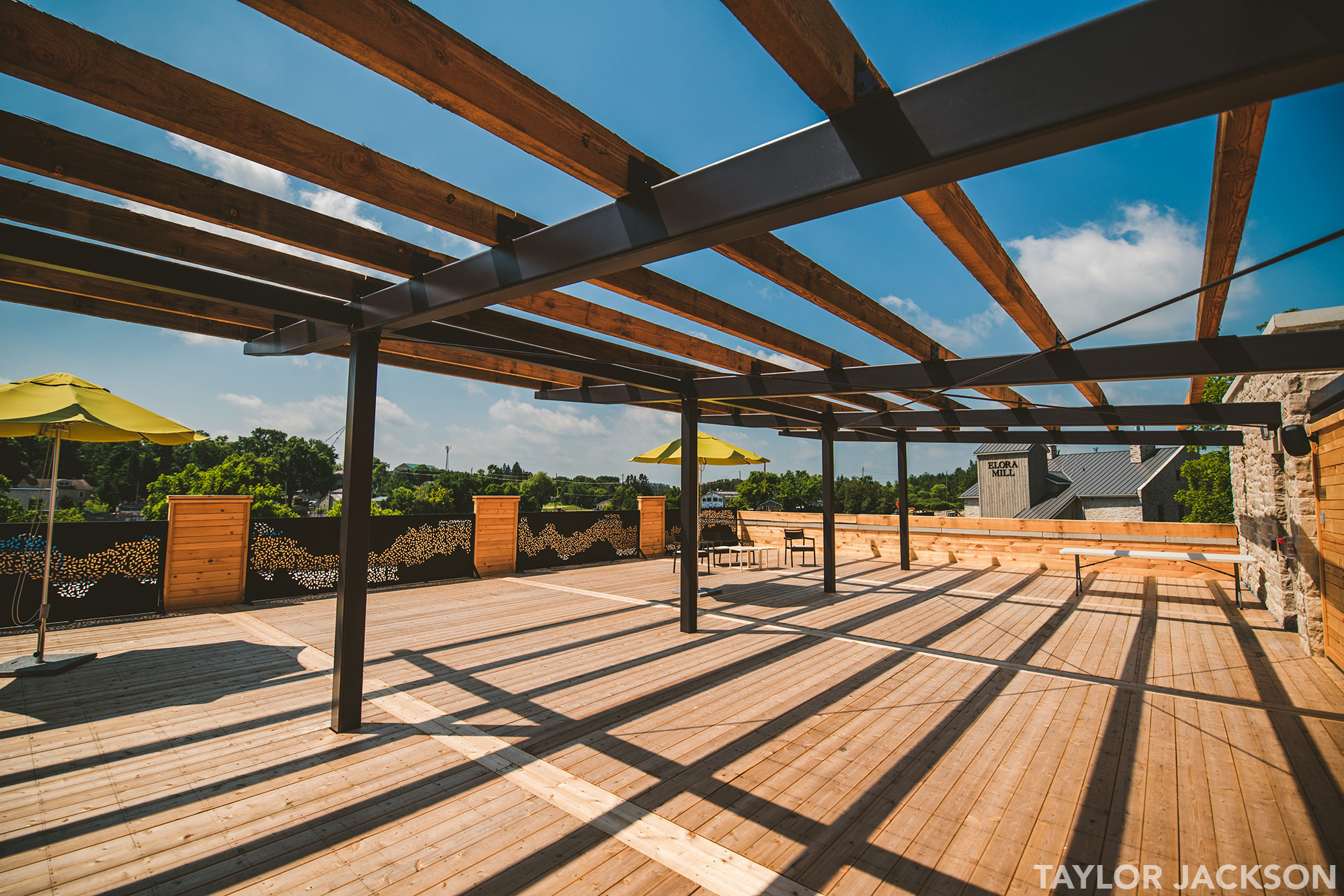 Elora Mill Rooftop Terrace