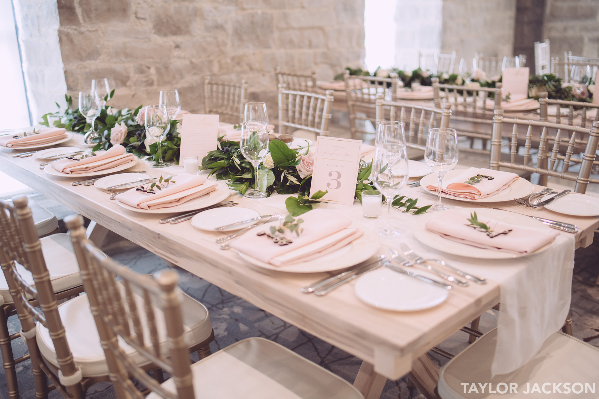 Elora Mill Wedding Decor