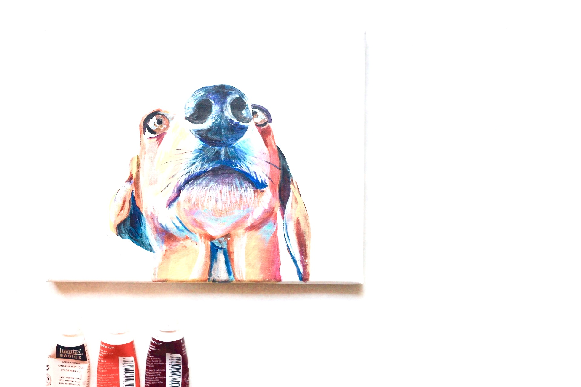 1 Pet on Canvas Custom Pet Portrait
