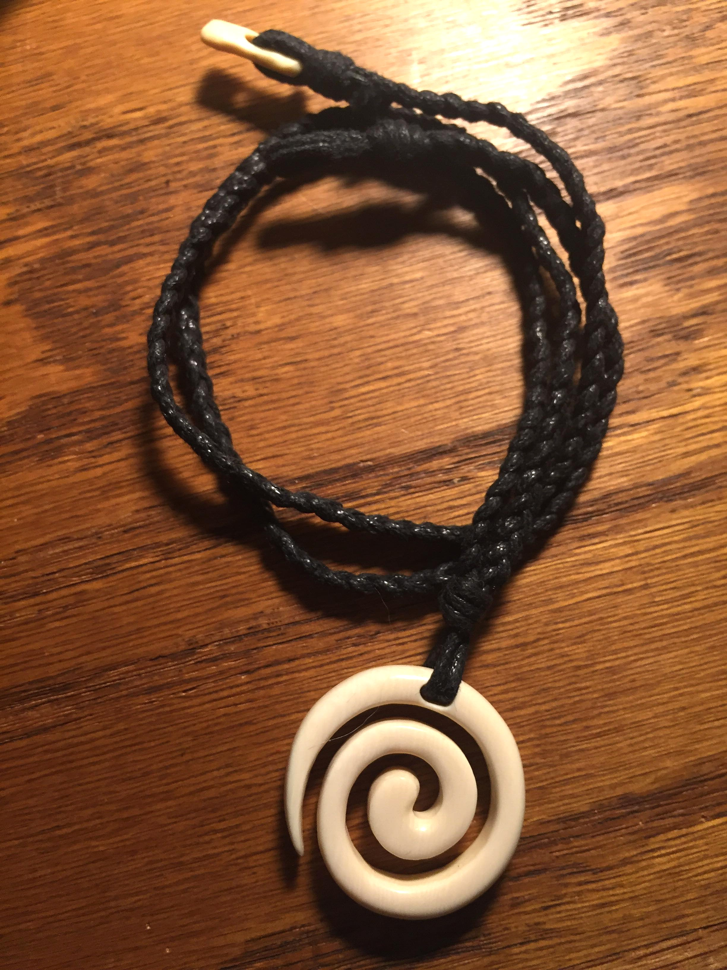 My Necklace from a concept on spirals, carved by Al Ganir.