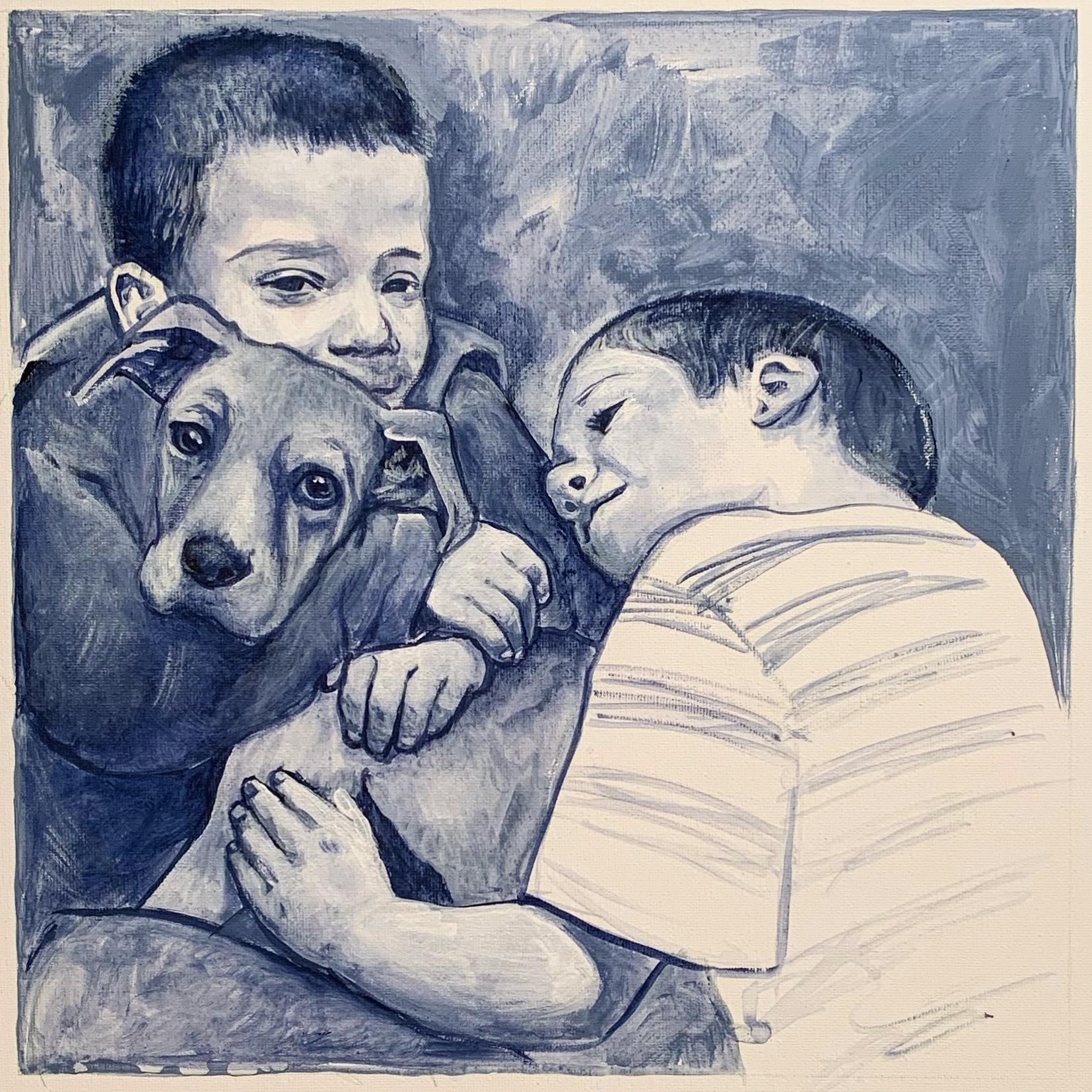 Portrait of Children & Puppy (2018)