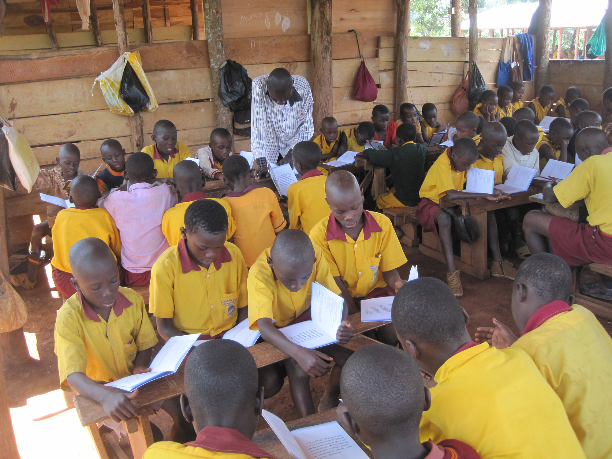Wings of Hope Primary School  Our students reading aloud from books generously donated by supporters like you