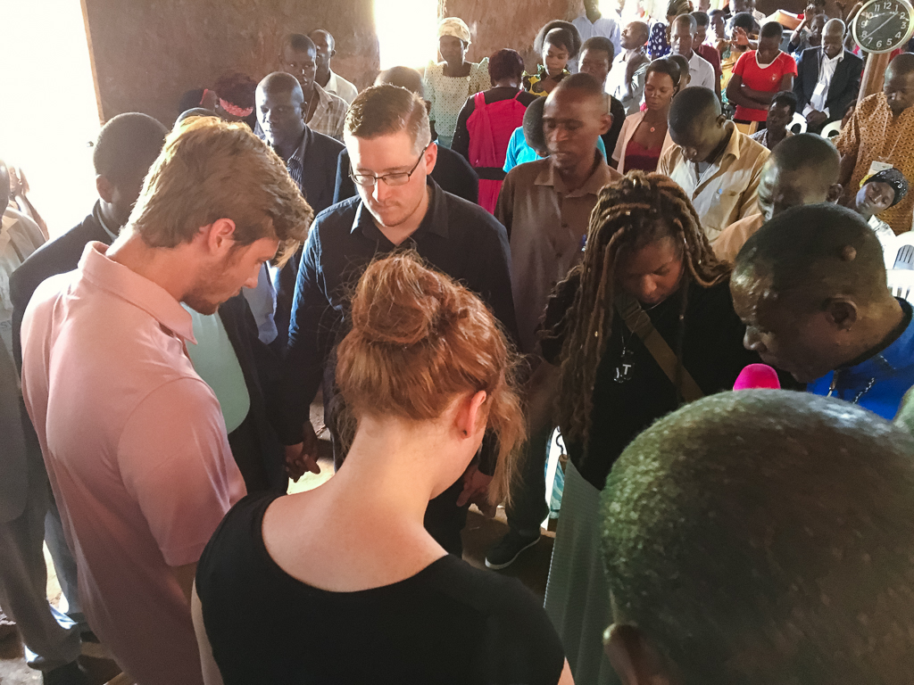 Praying over the conference