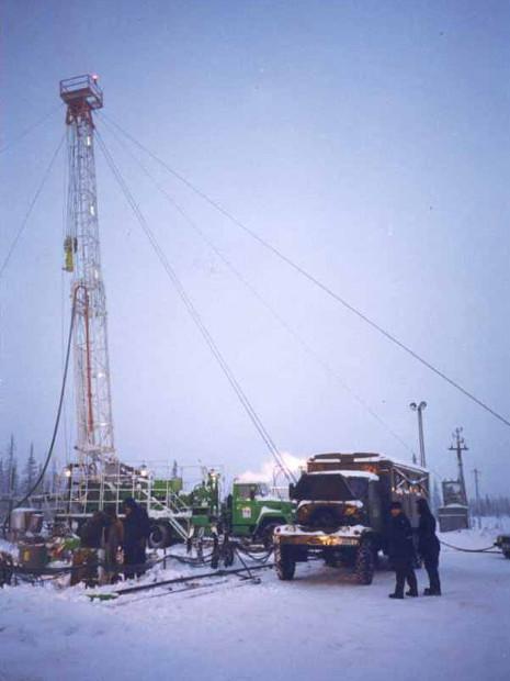 Above:  Oil production in Komi, Russia