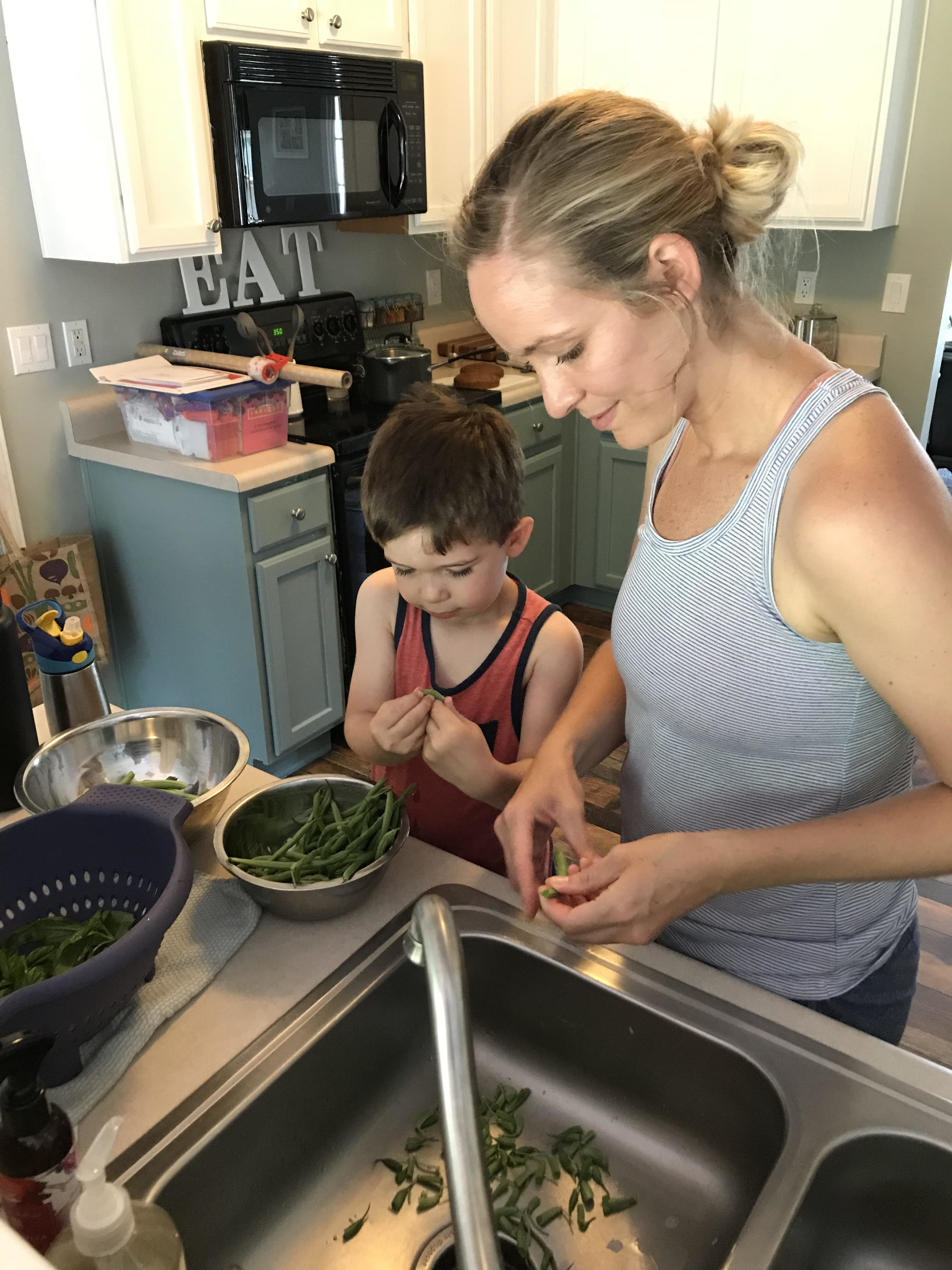 mason and mom green beans.jpg