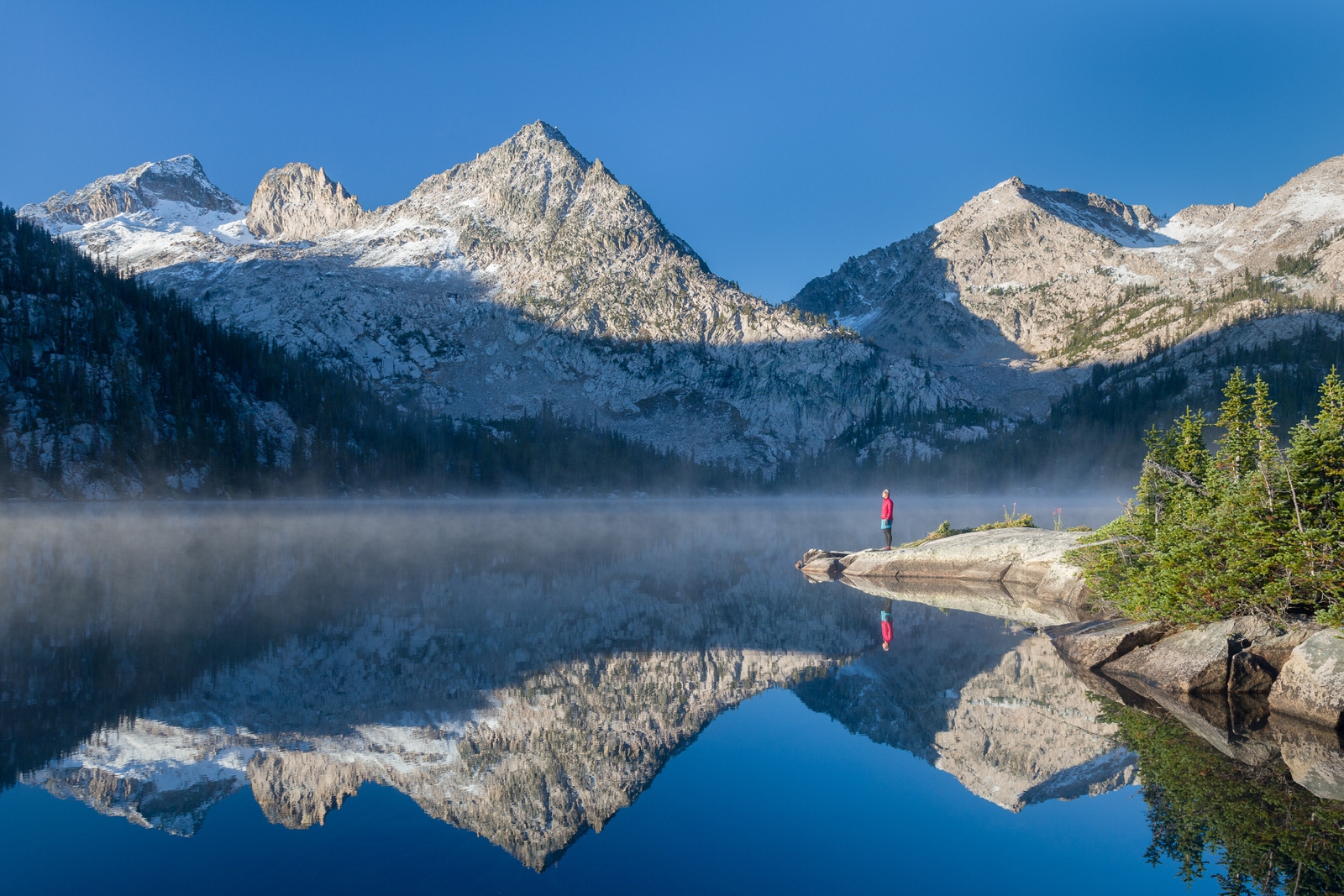 Morning Glory at Toxaway Lake in the Sawtooth Mountains