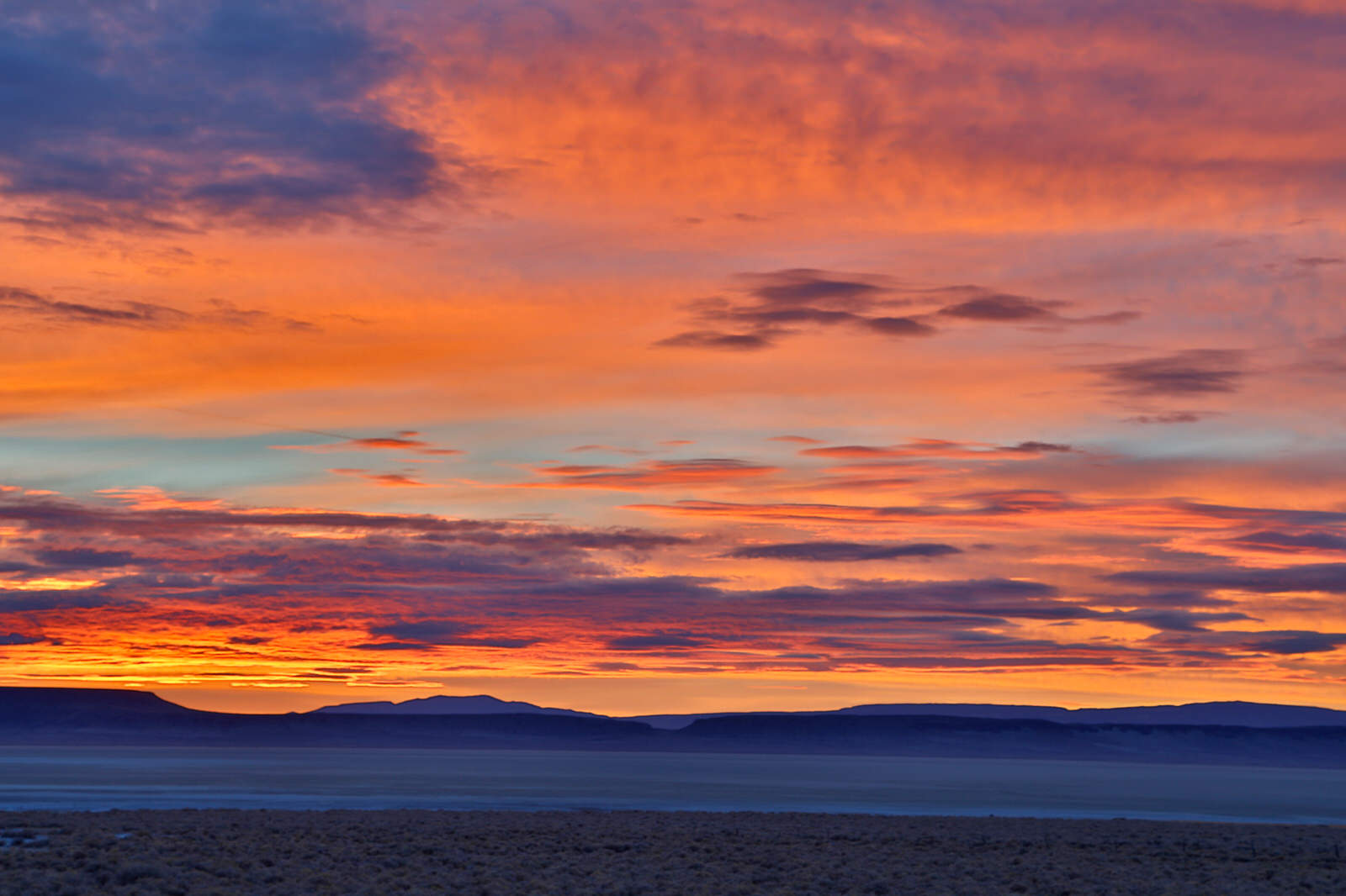Sunrise over the Alvord Desert